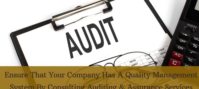 Ensure That Your Company Has A Quality Management System By Consulting Auditing & Assurance Services